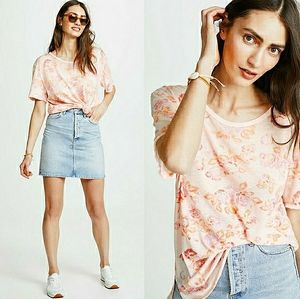 New FREE PEOPLE Floral Motif Tourist Tee size M